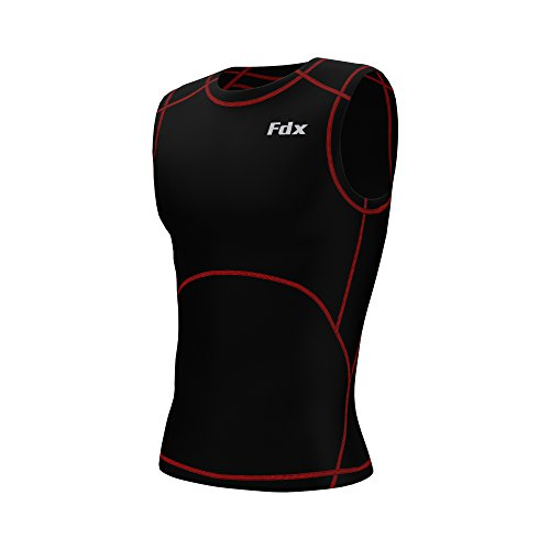 FDX Mens Compression Armour Base Layer Tops Running Sleeveless Sports Shirt