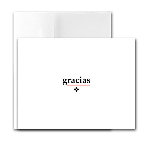 Buy Gracias – Contemporary Printer-Compatible Note Cards, Box of 24 cards and envelopes