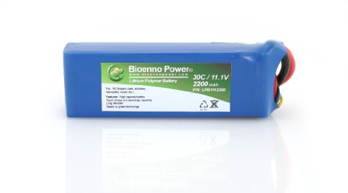 Bioenno Power Lightweight 30C, 11.1V, 2200 mAh LiPo Battery for RC Models