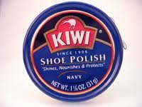 Kiwi Shoe Polish Paste Navy Blue, Dark Blue