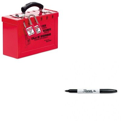 KITMLK498ASAN30001 - Value Kit - Master Lock Latch Tight Portable Lock Box (MLK498A) and Sharpie Permanent Marker (SAN30001)