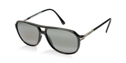 0f71d358f234c Maui Jim Dawn Patrol Sunglasses-223-02 Gloss Black (Gray Lens)-57mm ...