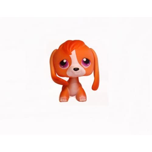 Orange Beagle Dachshund Puppy Dog # 301 (orange with purple lavender