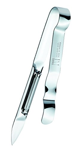 Westmark Monopol Stainless Steel Swivel Vegetable Peeler - Tong Construction With Sharpened Knife, , Stainless Steel