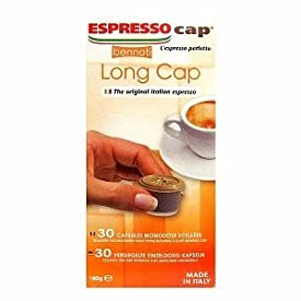 Bennoti the Original Italian Espresso Coffee Espresso Cap Capsules Long Lasting Rich and Creamy Taste (30 Capsules, Long Cap)