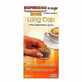 Bennoti the Original Italian Espresso Coffee Espresso Cap Capsules Long Lasting Rich and Creamy Taste (30 Capsules, Long Cap)