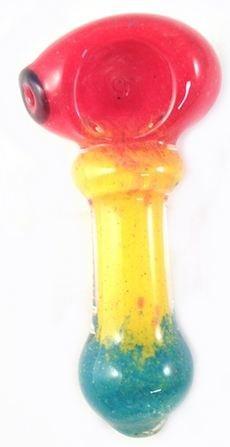 Rasta Colored Glass Tobacco Pipe