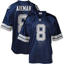 Dallas Cowboys #8 Troy Aikman Navy Blue 1992 Throwback Collectible Jersey at Amazon.com