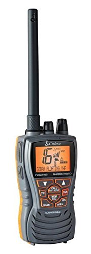Cobra MRHH350FLT Floating VHF Long Range Marine Radio, Tri-Watch, Burp Feature (Color: Grey)