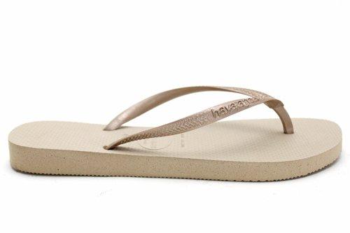 F10117Gol Havaianas Uk Sale Womens Summer Thong Beach Flip Flops Sandals Size Uk 3 4 5 6 7