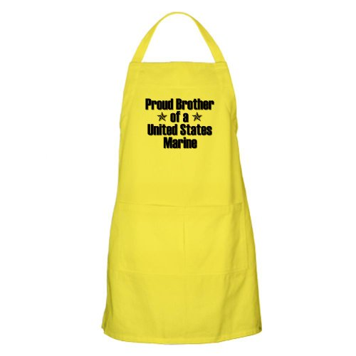 Cafepress Proud Marine Brother Star BBQ Apron - Standard
