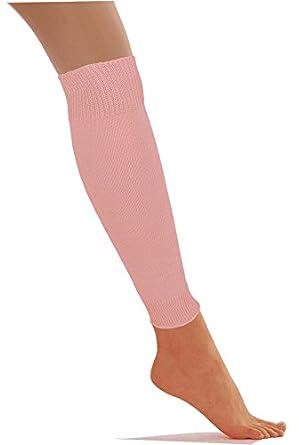 LADIES PLAIN LEG WARMERS WINTER KNEE SOCKS FANCY DRESS ACCESSORY (BABY PINK)