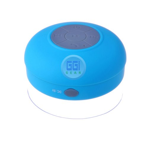 Ggi International Waterproof Bluetooth Wireless Shower Speaker Portable Speakerphone (Blue)