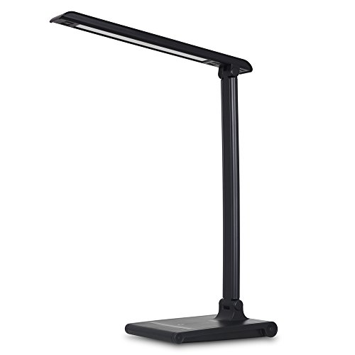 August LEC315 - Dimmable LED Desk Lamp with USB Phone Charger - Office Work Light with 3 Lighting Modes / Adjustable Brightness / 30 mins Auto Timer / 5V 1.5A Charging Port