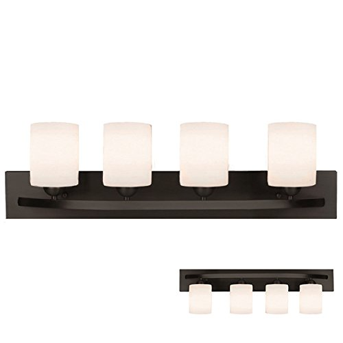 (VIDEO Review) Oil Rubbed Bronze 4 Globe Vanity Bath Light Bar Interior Lighting Fixture Best ...