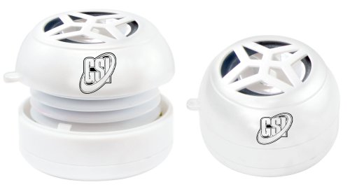 Gsi Super Quality Mini Hamburger Capsule Speaker - For Ipod/Mp3/Mp4/Computer/Laptop/Notebook/Audio/Gaming-Devices/Pda - White