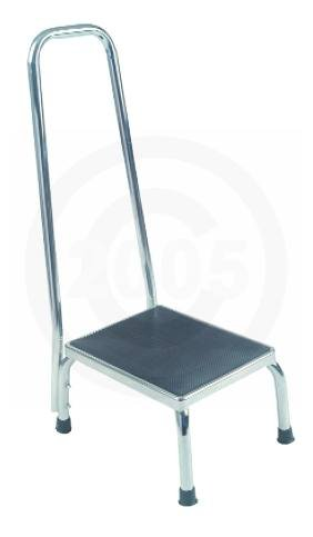 Drive Medical Footstool with Non Skid Rubber Platform and Handrail (Rubber Feet Stool compare prices)