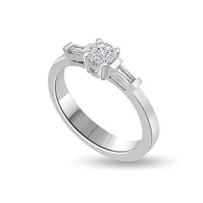 1.00 carat Diamond Engagement Ring for Women. G/VS1 Solitaire Round Brilliant Diamond in 18ct White Gold