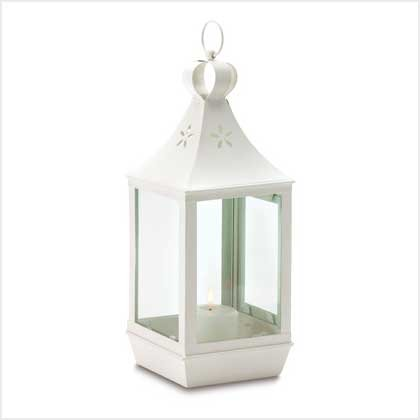 Gifts & Decor Large Cutwork White Shabby Garden Lantern Light Chic