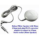 Pillow Speaker Deluxe (with volume control) by RadioShack - ideal for tinnitus sufferers - Connect to TV & Audio Equipment: Radio, Music Centre, MP3 player, etc - 6ft / 1.8m long cable lead - 3.5mm jack fitted (mono) PLUS adapter: 3.5mm Stereo