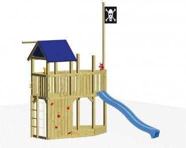 Winnetoo Spielturm Set 7 - Stelzenhaus mit Piratenschiff