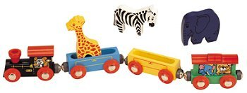 3141wyd4u5L Cheap Buy  Maxim Wooden Animal Train Set   7 Piece