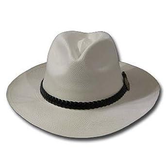 FEDORA MILANO Panama Hat WHITE STRAW Casual Golf by ULTRAFINO PANAMA HAT