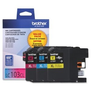 Brother LC103 Ink Cartridge ( Cyan,Magenta,Yellow , 3-Pack ) (Brother Lc103bk Xl compare prices)