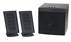 Monsoon MM-1000 2.1 Flat Panel Computer Speakers (3-Speaker, Black)