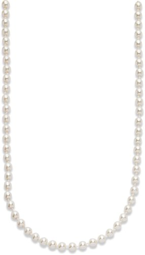 Imitation White Pearl Necklet 19'