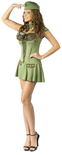 Funworld Womens Military Major Trouble Army Sexy Uniforms Halloween Costume