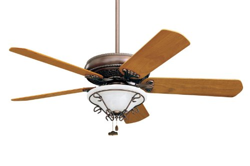 "Emerson Ceiling Fans CF4500BC Crown Fan - Copper Uplight 50"" w B52MO Blades and LK31BC Light"