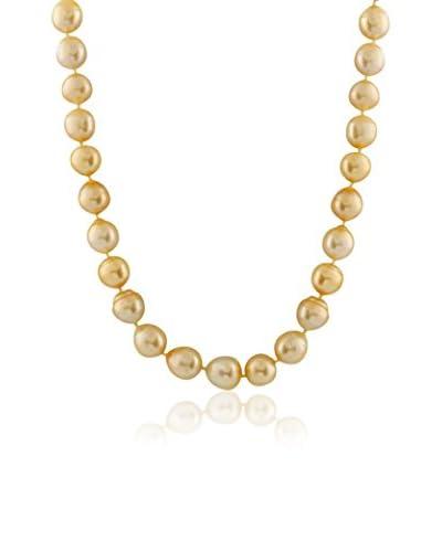 Splendid 9-12mm Golden South Sea Pearl Necklace