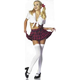 Playful and Cute School Girl Costume Complete WITH or WITHOUT Stockings