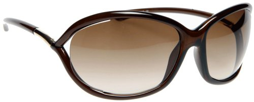 New Tom Ford Jennifer Sunglasses TF 8 692 TF8 Dark Brown Frame Gradient Brown Shades Size: 61-16-120