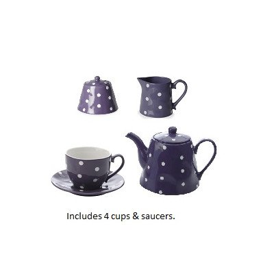11 Piece Tea Kettle Set Color: Purple