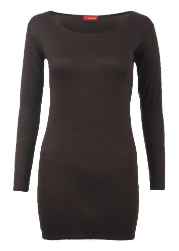 Womens Long Sleeved Jersey Ladies Bodycon Dress Top