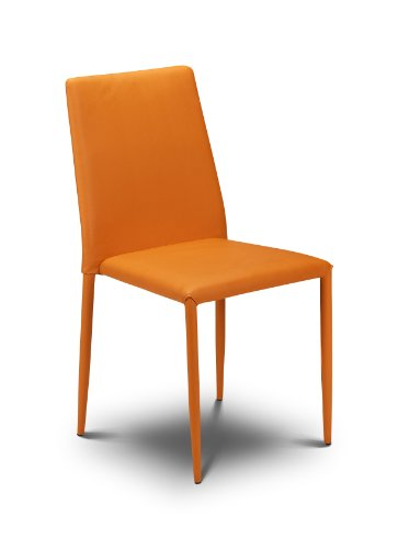 Julian Bowen Jazz Stacking Chair, Orange (Set of 4 Chairs)