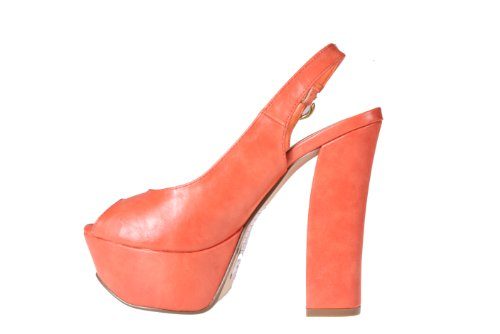Refresh by Beston Women¡¯s ¡®DEENA-06¡¯ Chunky Heel Platform Sling backs with Peep Toe