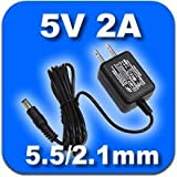 【PSE取得品】 5V2A 汎用 ACアダプター スイッチング方式安定化電源 プラグ外径5.5mm(内径2.1mm) (5V/2A)