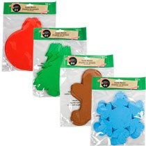 [Crafter's Square Foam Christmas Shapes 12 ct shapes Set of 4] (Easy Homemade Adults Halloween Costumes)