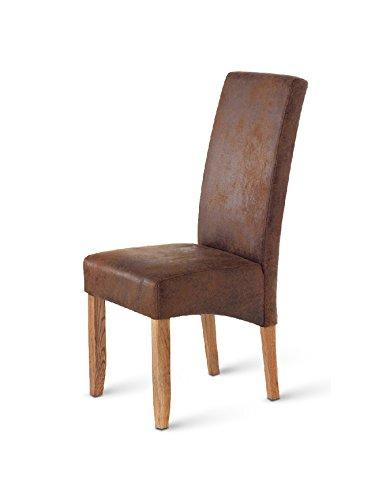 SAM® Esszimmerstuhl Monza mit Stoffbezug in Wildlederoptik und stonefarbigen Beinen aus Pinienholz