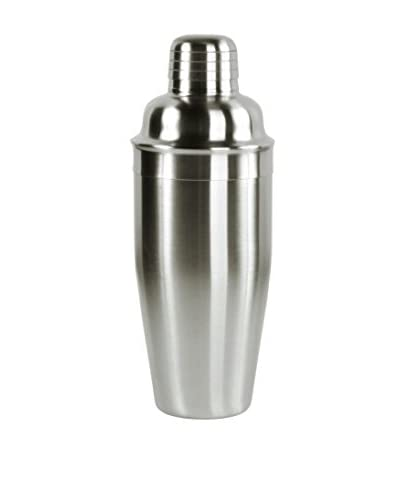 D&V Brushed Stainless Steel Cocktail Shaker, 20-Oz.