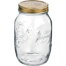 Bormioli Rocco 1 Quart Jar with Rubber Gasket - Set of 4