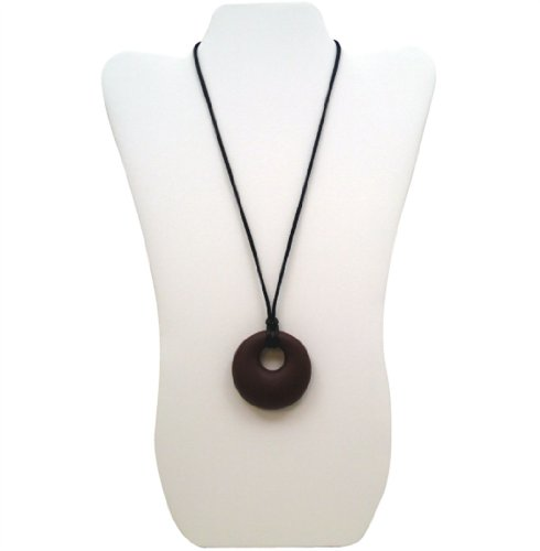Aenki Silicone Teething Necklace - Ring Pendant Chocolate - 1