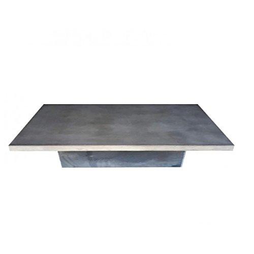 Tavolino Beton acciaio Duo