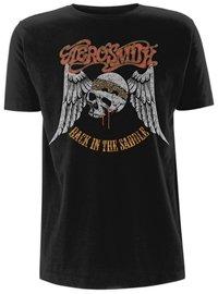 Aerosmith Back In The Saddle Nero maglietta Ufficiale autorizzato