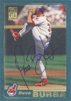 Dave Burba Cleveland Indians 2001 Topps Autographed Hand Signed Trading Card. by Hall+of+Fame+Memorabilia