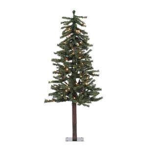 Vickerman 100-Piece Natural Alpine Tree with 337 Tips Set, 4-Feet by 25.5-Inch, Clear