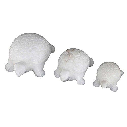marbre-gres-blanc-tortues-ensemble-de-3-decoration-indienne